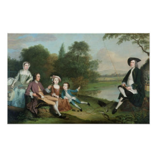 A family of Anglers, 1749 Poster