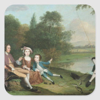 A family of Anglers, 1749 Square Stickers
