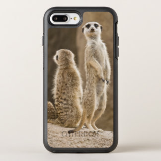 A Family Of Meerkats: Father, Mother And Baby OtterBox Symmetry iPhone 8 Plus/7 Plus Case