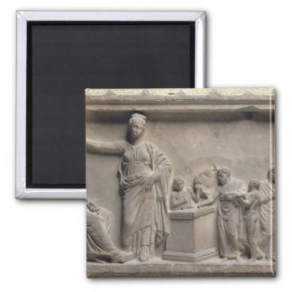 A family sacrificing a bull to Asclepius Magnet