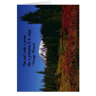 A Famous Navaho Quote Greeting Card