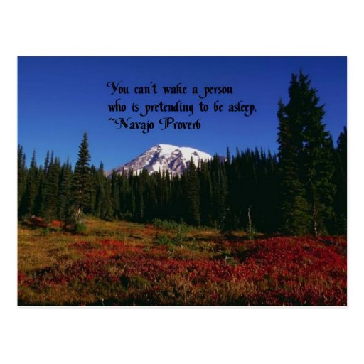 A Famous Navaho Quote Postcards