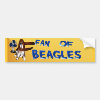 A Fan Of Beagles Bumper Sticker