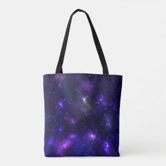 A fancy galaxy tote bag