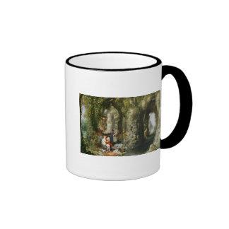 A Fantastic cave with Odysseus and Calypso Ringer Mug