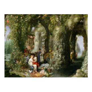 A Fantastic cave with Odysseus and Calypso Postcard