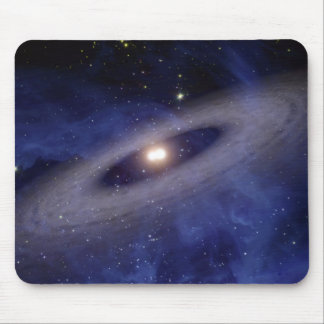 A faraway solar system mouse pad