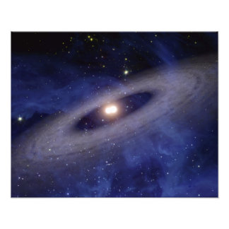A faraway solar system photo print