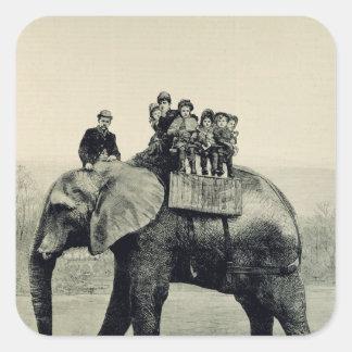 A Farewell Ride on Jumbo Square Sticker