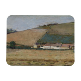 A Farm Among Hills, Giverny, c.1887 Rectangular Magnet