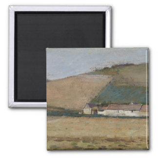 A Farm Among Hills, Giverny, c.1887 Fridge Magnet
