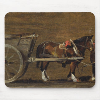 A Farm Cart with two Horses in Harness: A Study fo Mouse Mat