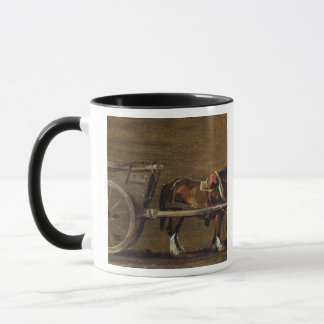 A Farm Cart with two Horses in Harness: A Study fo Mug