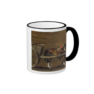 A Farm Cart with two Horses in Harness: A Study fo Mugs