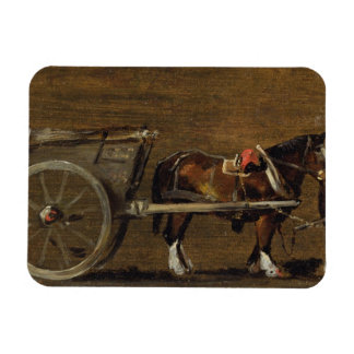 A Farm Cart with two Horses in Harness: A Study fo Rectangular Photo Magnet