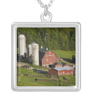 A farm in Barnet Center, Vermont. Connecticut Silver Plated Necklace