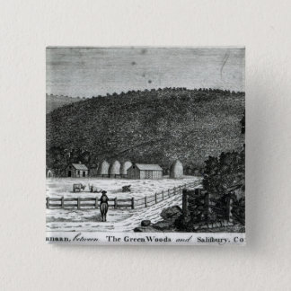 A Farm in Canaan, Connecticut 15 Cm Square Badge