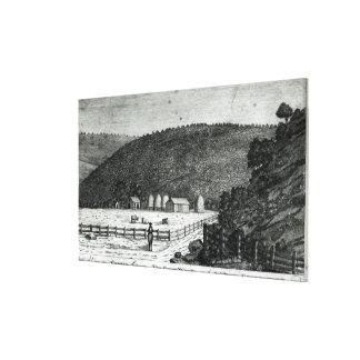 A Farm in Canaan, Connecticut Canvas Print