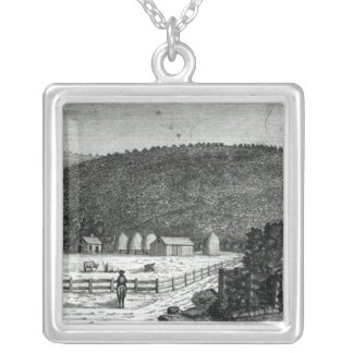 A Farm in Canaan, Connecticut Silver Plated Necklace