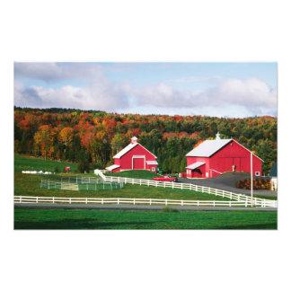 A farm in Vermont near Peacham. RELEASE Photo Print