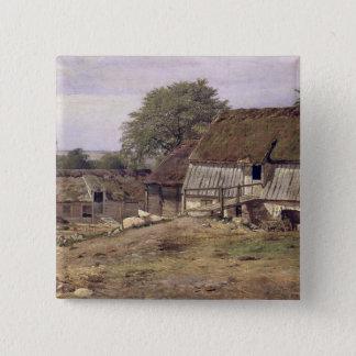 A Farmhouse in Sweden, 1834 15 Cm Square Badge