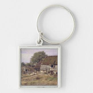 A Farmhouse in Sweden, 1834 Key Chain