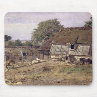 A Farmhouse in Sweden, 1834 Mouse Mat