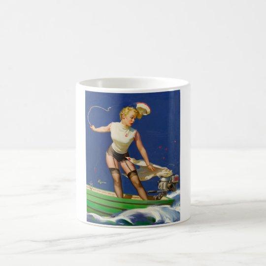 A Fast Takeoff Pin Up Art Coffee Mug