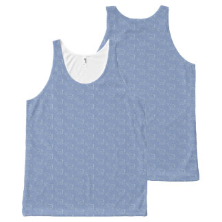 A Fat Blue Pony All-Over Print Tank Top