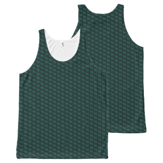 A Fat Dark Green Pony All-Over Print Tank Top