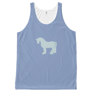 A Fat Duck Egg Blue Pony All-Over Print Tank Top