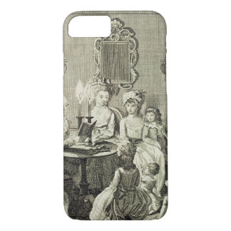 A Father Reading to his Family by Candlelight, eng iPhone 8/7 Case