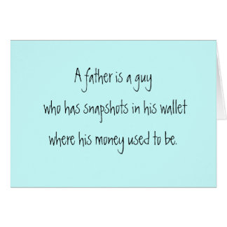 A Father's Wallet Card