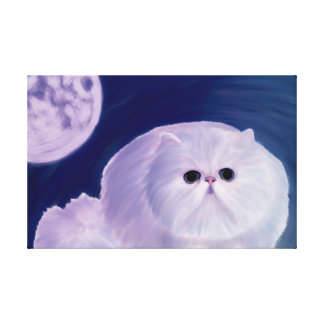 A fatty Persian kitten digitally handpainted Canvas Print