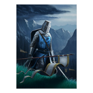 A fearless knight marches on. poster