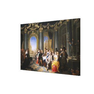 A Feast in an Interior Gallery Wrapped Canvas