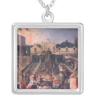 A Feast in the park of the Duke of Mantua Silver Plated Necklace