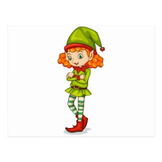 A female elf postcard
