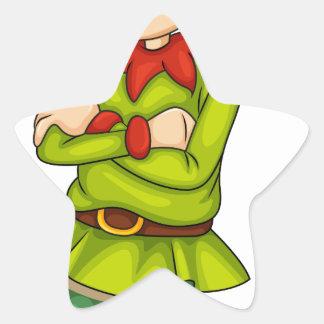 A female elf star sticker