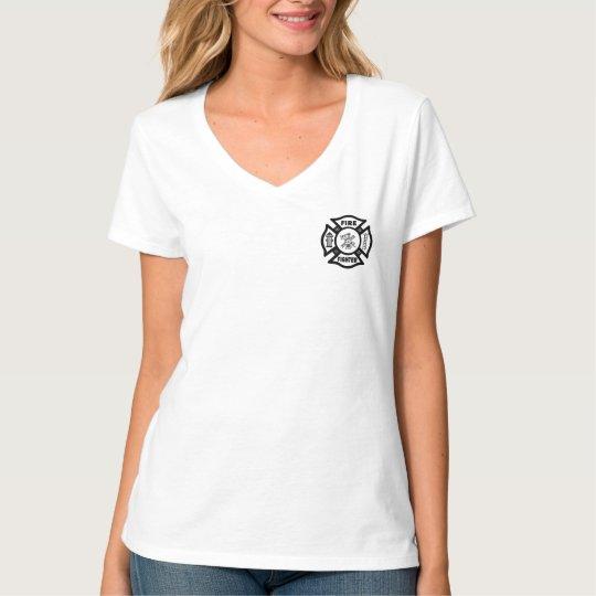 A Female Firefighter Tattoo T-Shirt
