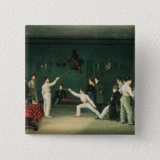 A Fencing Scene, 1827 15 Cm Square Badge