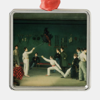 A Fencing Scene, 1827 Christmas Ornament