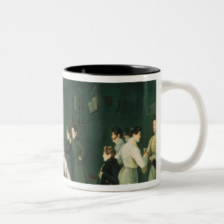 A Fencing Scene, 1827 Two-Tone Mug