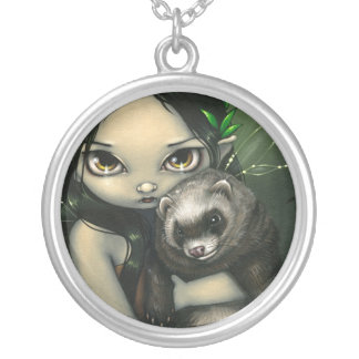 A Ferret and His Fairy NECKLACE fantasy