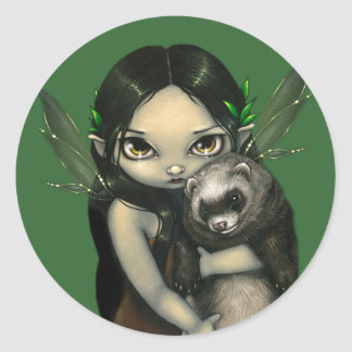 """""""A Ferret and His Fairy"""" Sticker"""