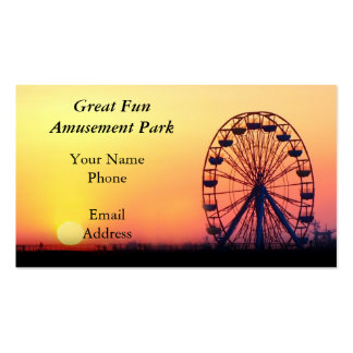 A Ferris Wheel and Amusement Park Business Card Templates