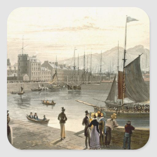 A ferry arriving at Leith, from 'A Voyage Around G Stickers
