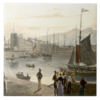 A ferry arriving at Leith, from 'A Voyage Around G Tile