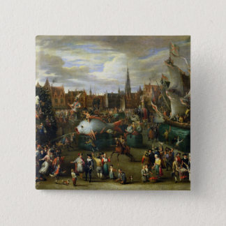 A Festival at Antwerp 15 Cm Square Badge