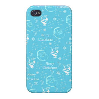 A Festive Jolly Father Christmas iPhone 4 Cases